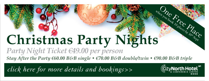 Advertisement For city North Christmas party nights advert