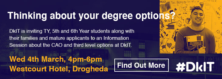 Advertisement For DkIT Roadshow - Drogheda