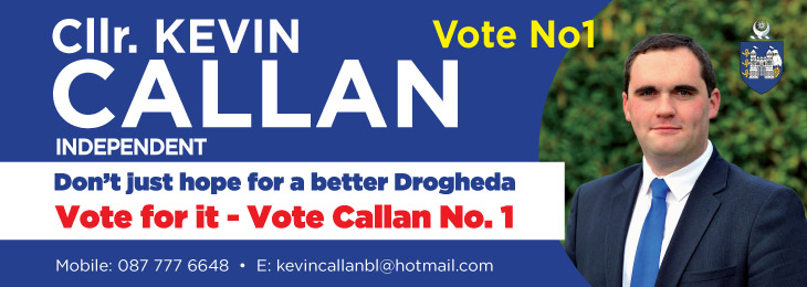 Advertisement For Kevin Callan Election 2019 banner