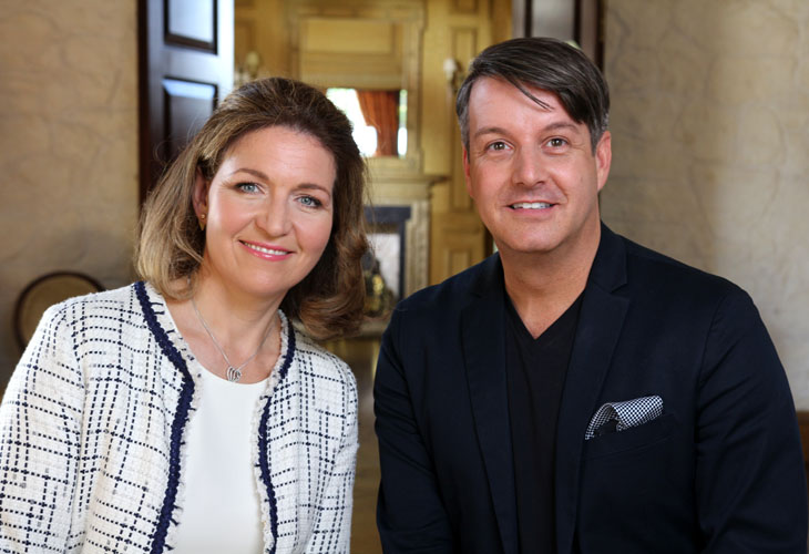 Top Wedding Planners Tara Fay And Bruce Rus Who Will Be Vying With Each Other To Win The Battle Of In New Tv Show My Day